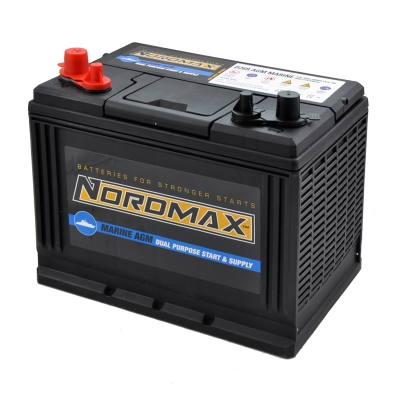 Battery DUAL AGM 12V 75Ah 750A(EN) in the group BATTERIES / MARINE & HOBBY / CONSUMPTION BATTERIES at TH Pettersson AB (105-D26R)