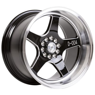 59° North Wheels D-004  11x18 5x114/5x120 ET15 CB 73,1 Wheel Gloss Black Champer/Polished Lip in the group WHEELS / RIMS / BRANDS / 59° North Wheels at TH Pettersson AB (206-00418115114120B)