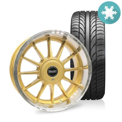 Ocean Classic Gold 8,5x17 5x108 ET10 HUB 65,1 - Complete with winter tires in the group WHEELS / RIMS / COMPLETE WHEEL KITS / WHEEL KITS FOR VOLVO at TH Pettersson AB (209-OC76GOLD-KP-r-V)