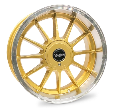 Ocean Wheels Classic Gold 8,5x17 5x108 ET10 65,1 in the group WHEELS / RIMS / BRANDS / OCEAN WHEELS at TH Pettersson AB (209-OC76GOLD)