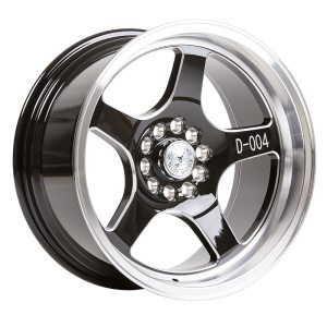 59° North Wheels D-004  8,5x17 5x114/5x120 ET10 CB 73,1 Wheel Gloss Black Champer/Polished Lip