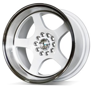 59° North Wheels D-004  9,5x17 5x114/5x120 ET5 CB 73,1 Wheel Gloss White/Polished Lip
