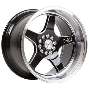 59° North Wheels D-004  11x18 5x114/5x120 ET15 CB 73,1 Wheel Gloss Black Champer/Polished Lip