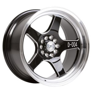 59° North Wheels D-004  9,5x18 5x114/5x120 ET20 CB 73,1 Wheel Gloss Black Champer/Polished Lip