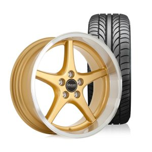 Ocean MK18 Gold 8,5x18 5x108 ET6 HUB 65,1 - Complete with summer tires