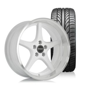 Ocean MK18 White 8,5x18 5x108 ET6 HUB 65,1 - Complete with summer tires
