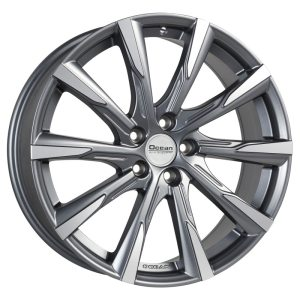 Ocean Wheels Mistral II Antracit Matt Polished 9,0x22 5x108 ET50 63,4