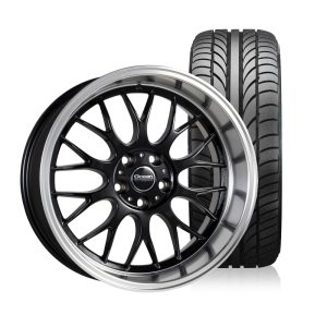 Ocean Super DTM Black 8,5x18 5x108 ET6 HUB 65,1 - Complete with summer tires