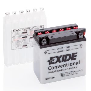Motorcycle battery 4560 EXIDE MC 12N7-3B 7Ah 75A(EN)