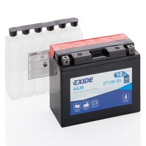 Motorcycle battery 4906 EXIDE MC ET12B-BS 10Ah 160A(EN)