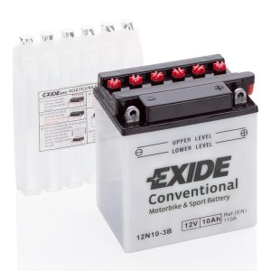 Motorcycle battery 4942 EXIDE MC 12N10-3B 10Ah 110A(EN)