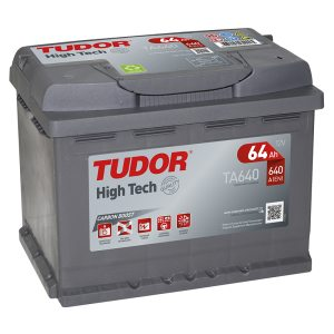 Starting Battery TA640 TUDOR EXIDE HIGH-TECH 64Ah 640A(EN)