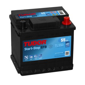 Starting Battery TL550 TUDOR EXIDE START-STOP EFB 55Ah 480A(EN)